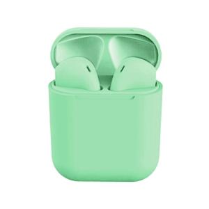 Színes Univerzális Bluetooth Headset töltőtokkal – Zöld