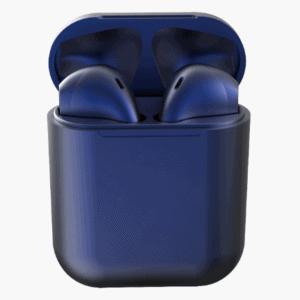 Színes Univerzális Bluetooth Headset töltőtokkal – Sötét kék