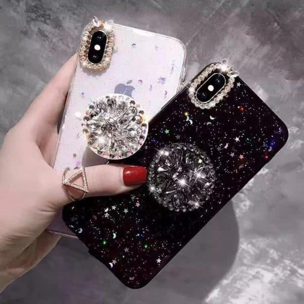 Glitteres köves telefontok