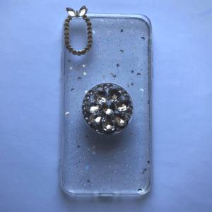 Glitteres, köves telefontok iPhone 11, 11 Pro, X/XS, XR – Fehér, X/Xs