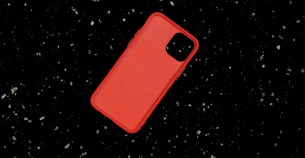 Zero waste telefontok piros színben