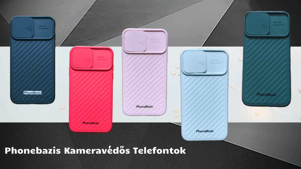 Kameravédő telefontokok különböző színekben