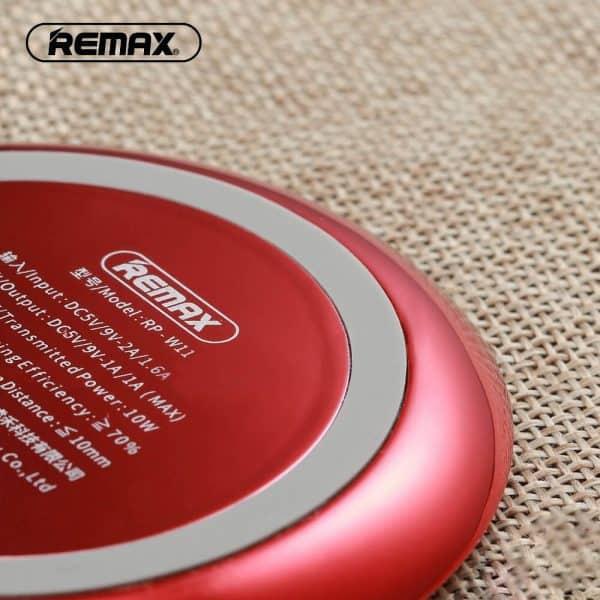 Remax vezeték nélküli töltő piros színben