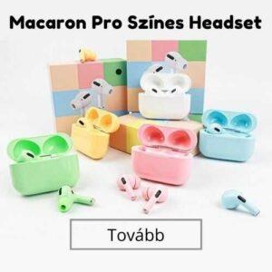 Macaron fülhallgatók különböző színekben